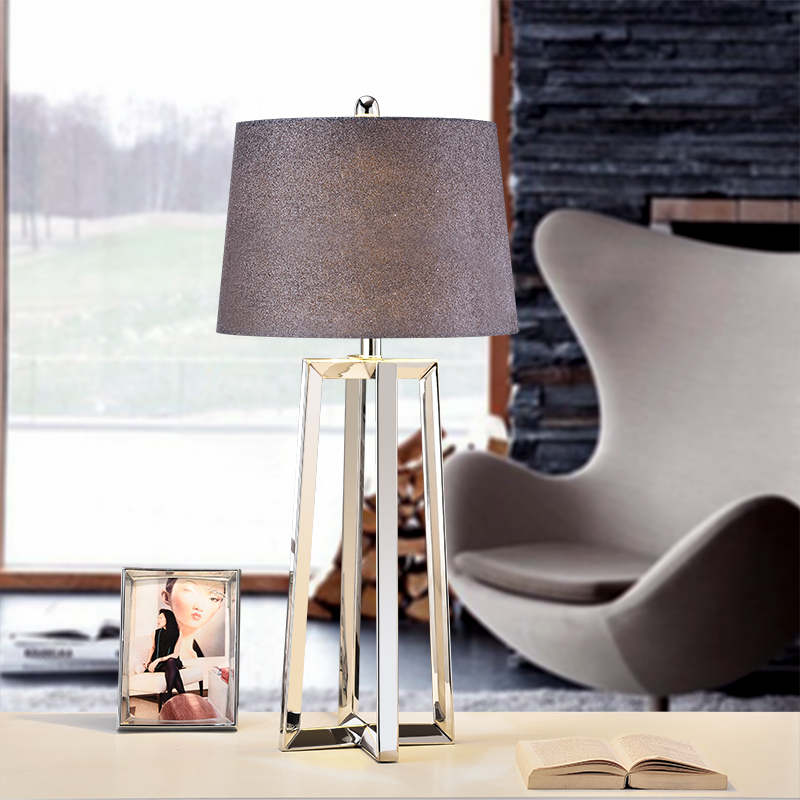 US $146.45 |stainless steel Lamp Shades Big Modern Table Lamps For Living  Room Bedroom Bedside Table Lamps Modern Fashion Desk Lights-in Table Lamps  ...