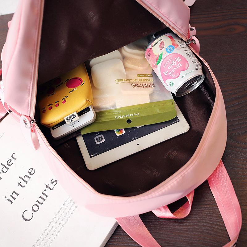 Menghuo Large Capacity Backpack Women Preppy School Bags For Teenagers Female Nylon Travel Bags Girls Bowknot Backpack Mochilas (60)
