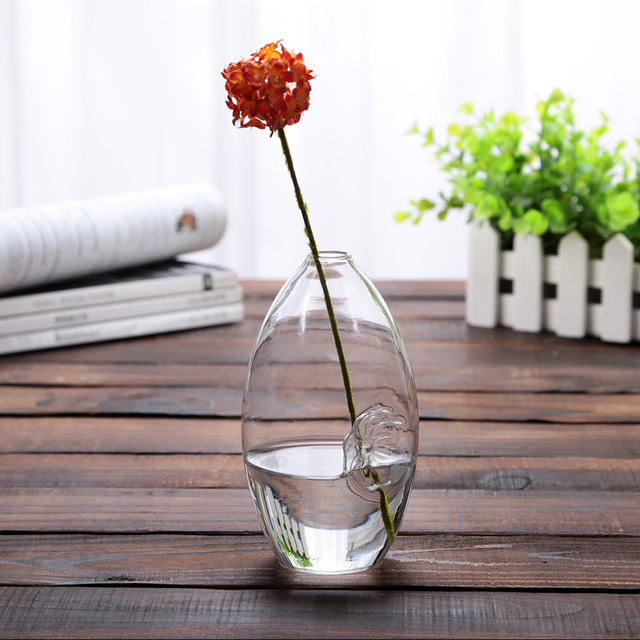 2015 NEw ! Clear Glass Simple Flower Vase Table Floor hydroponic Vase Home decor