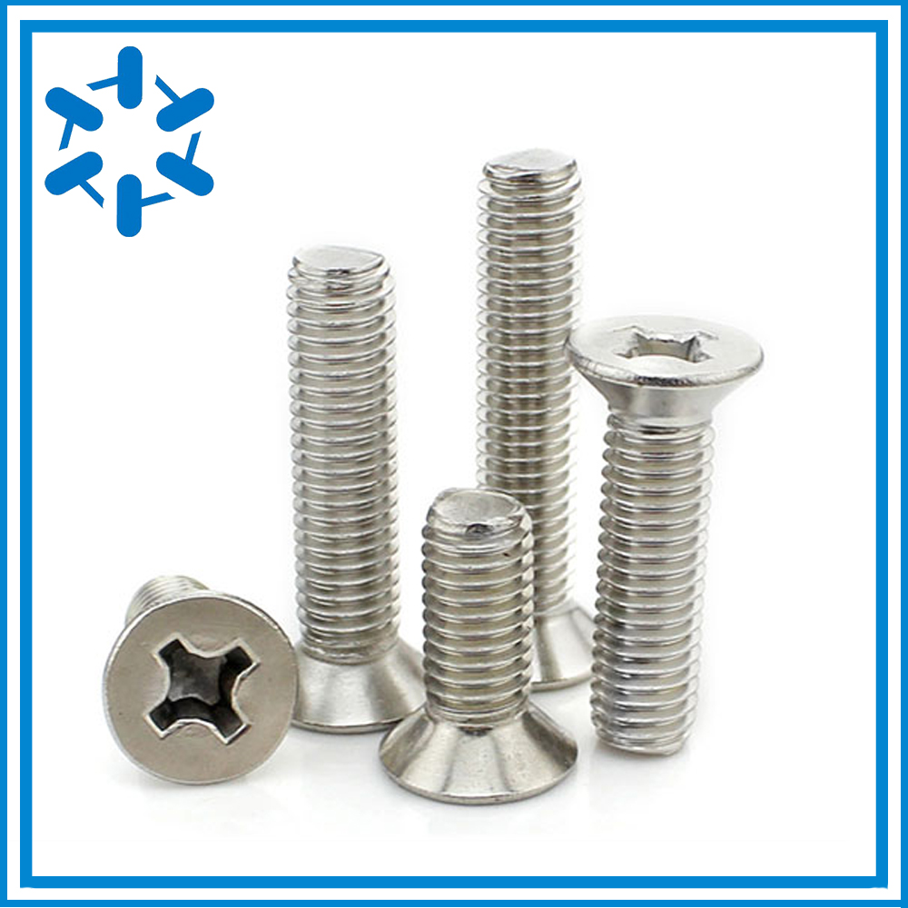 M2 M2 5 M3 Slotted Drive Countersunk Flat Head 304 Stainless Steel