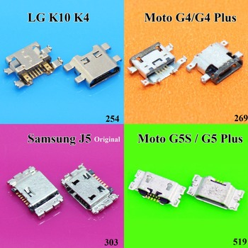 For MOTO G4 G5 Plus G5S XT1641 XT1644 Micro USB jack socket Connector Charging Port for Samsung J3 J5 J7 J500 J100 J300 LG K10 image