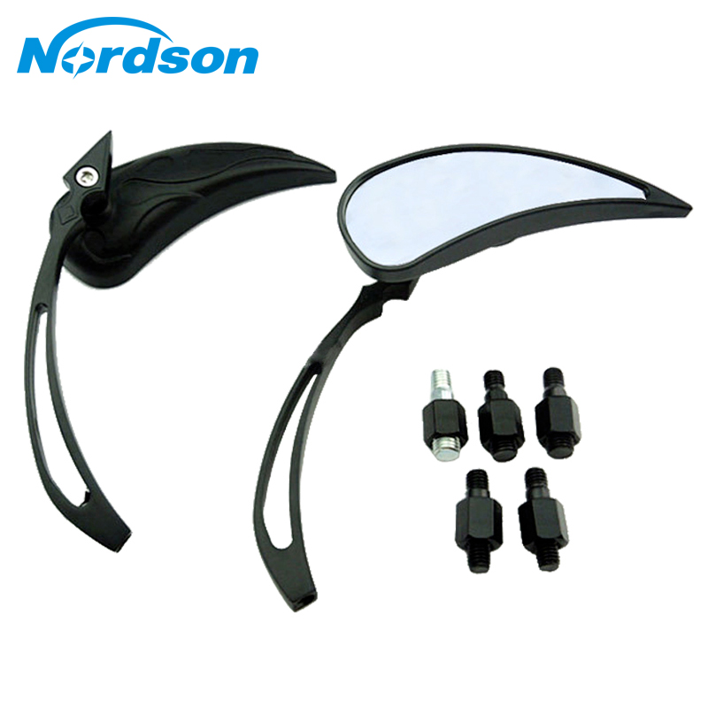Side Mirrors & Accessories Rational Nordson Motorcycle Rear Mirrors For Suzuki Yamaha Harley Davidson Honda Xl Dyna Super Glide V-rod V Star Vmax Xv Shadow Vt Discounts Sale