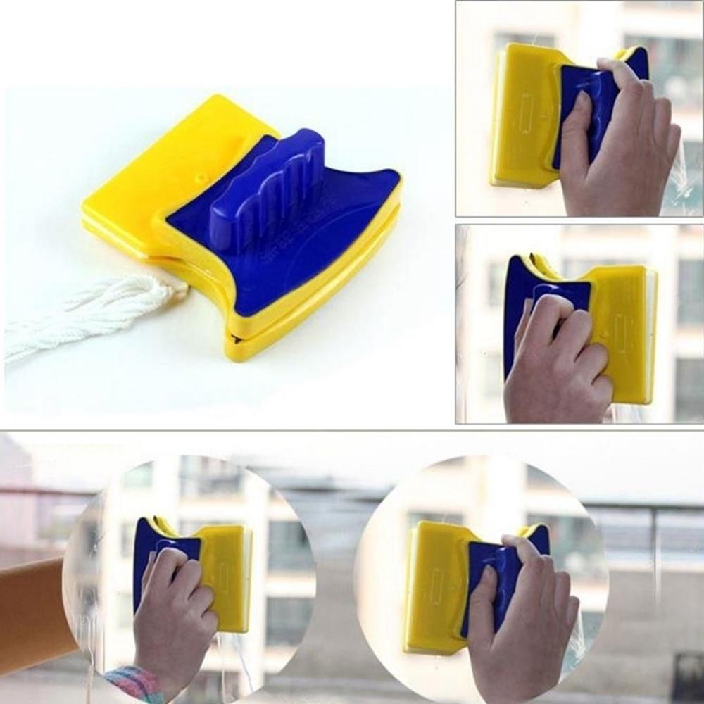 Ny Magnetisk Vinduespoleringsværktøj Dobbelt Side Glas Visker - Husholdningsvarer