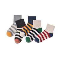 Socks Woman Stripe Breathable Fahsion Women Cotton Socks Sweat Absorb Comfortable Ladies In Tube Socks 5pairs/Lot