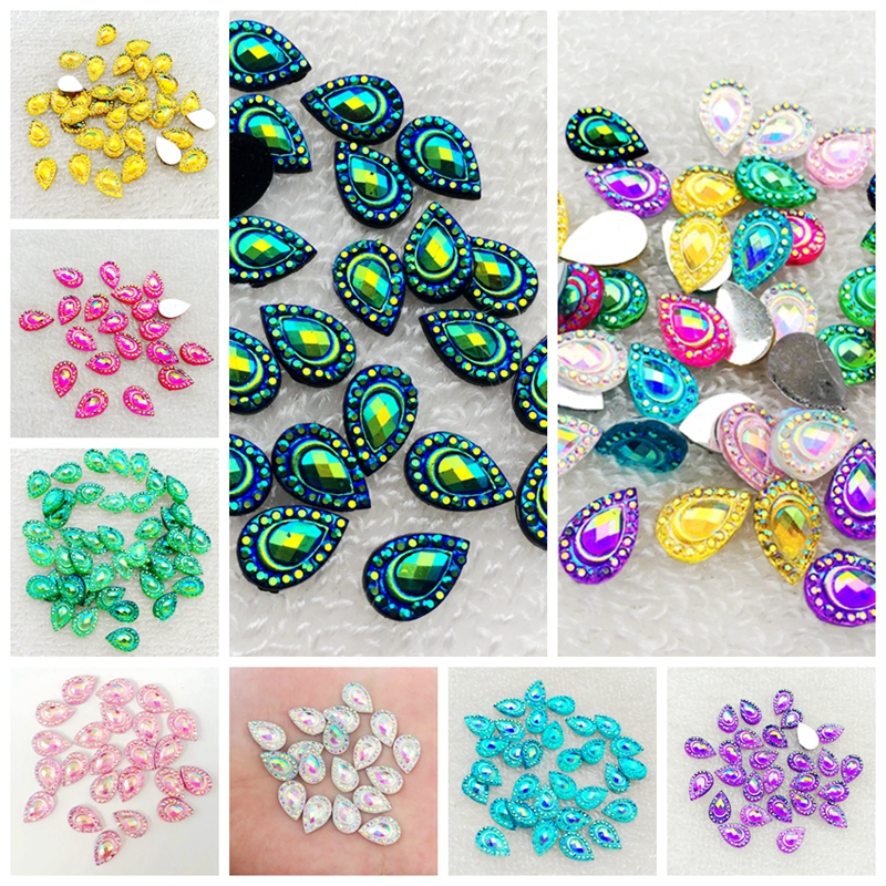 Detail Feedback Questions about DIY 100pcs 8 12mm Drop AB Flat back  rhinestone Stone Crystal for Wedding decoration Clothing accessories  buttons A48 on ... 978a7fb8625c