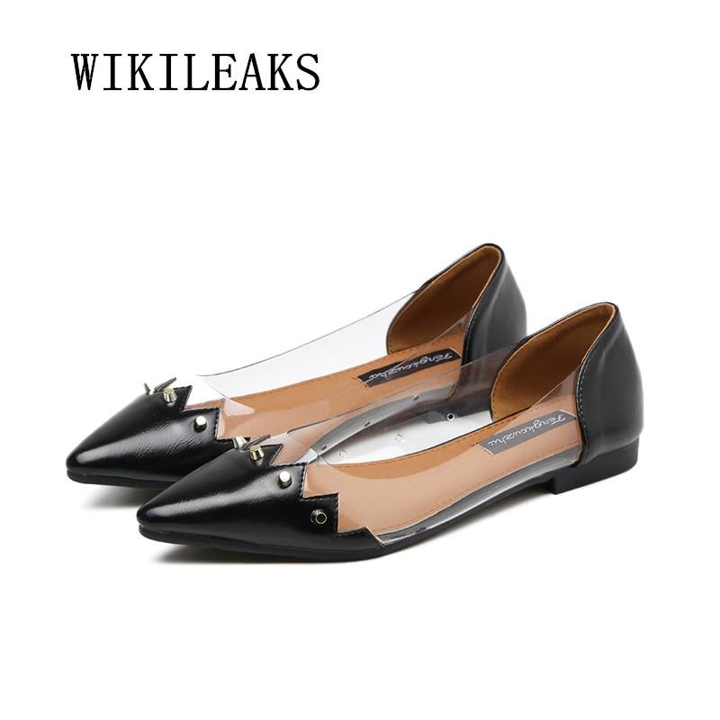 Las Casual Transparente De Primavera Nuevo En Mujer 2018 Planos Para Zapatos Mujeres Zapatillas Apricot Mocasines Resbalón Remaches black Cuero Los OwqdCwY