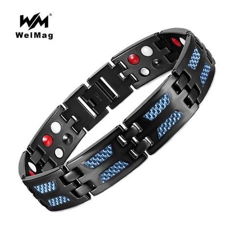 Welmag модные очаровательные магнитные браслеты здоровья энергия