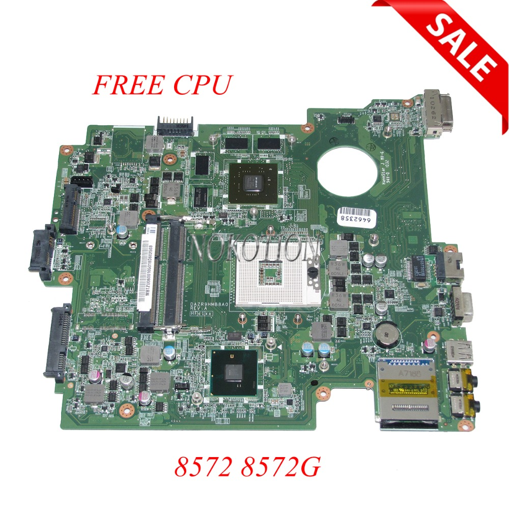 NOKOTION MB.TZU06.001 MBTZU06001 DAZR9HMB8A0 Laptop Motherboard for Acer TravelMate 8572 8572g Series HM55 GT330M Main boardNOKOTION MB.TZU06.001 MBTZU06001 DAZR9HMB8A0 Laptop Motherboard for Acer TravelMate 8572 8572g Series HM55 GT330M Main board