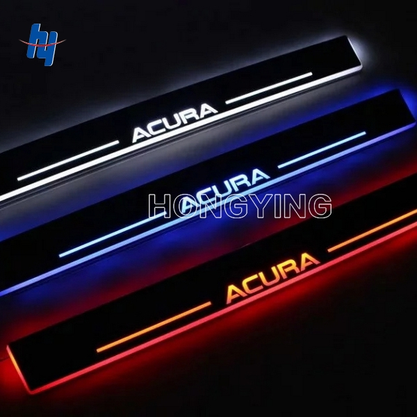 2PCS 12V custom moving LED not Stainless Steel Slim Courtesy Pedal Door Sill Scuff Plate For ACURA RDX Front Door free ship rear door of high quality acrylic moving led welcome scuff plate pedal door sill for 2013 2014 2015 audi a4 b9 s4 rs4
