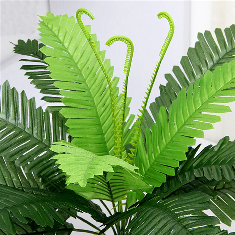 40cm Artificial Silk Foliage Plant Simulaton Plastic Large Boston Fern For Office Home Indoor Garden Decoration DIY Gardening