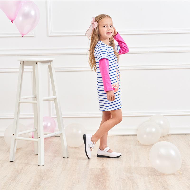 HTB1N45MQNjaK1RjSZFAq6zdLFXa1 DXTON 2018 New Girls Dresses Long Sleeve Baby Girls Winter Dresses Kids Cotton Clothing Casual Dresses for 2-8 Years Children