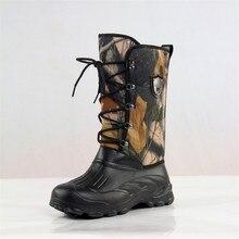 Новинка; уличные камуфляжные охотничьи ботинки; камуфляжные Водонепроницаемые зимние ботинки со шнуровкой спереди; обувь для рыбалки; размеры 41-46