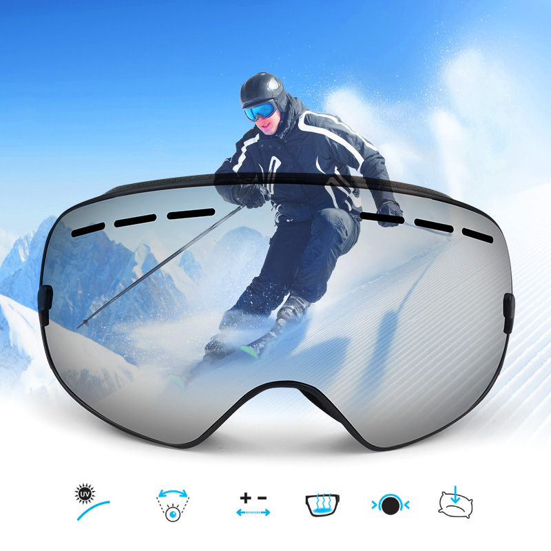 Onedoyee Professional Big Size Ski Goggles Men Women Double Lens UV400 Anti-fog Skiing Eyewear Snowboard Glasses Adult Skiing vector brand ski goggles men women double lens uv400 anti fog skiing eyewear snow glasses adult skiing snowboard goggles
