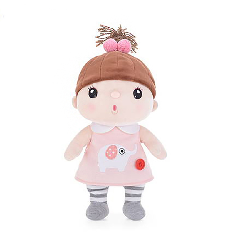 New Arrival Official Metoo Dolls Plush Sugar Bean Jelly Dolls Best Gifts for Girls Kids With Gifts Box Hat Cute doll 12 Inches offcia metoo elephant dolls plush stuffed animal toys best gifts for kids girls accompany with kids sleeping