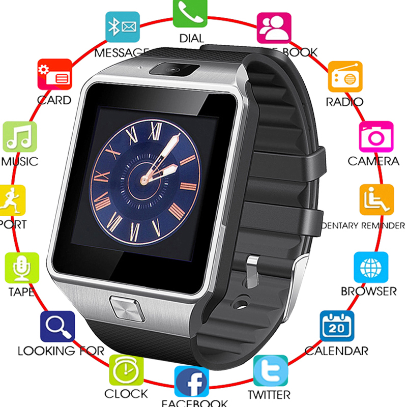 2018 TOP Bluetooth Smart Watches DZ09 Smartwatch voor Android Apple - Herenhorloges - Foto 1