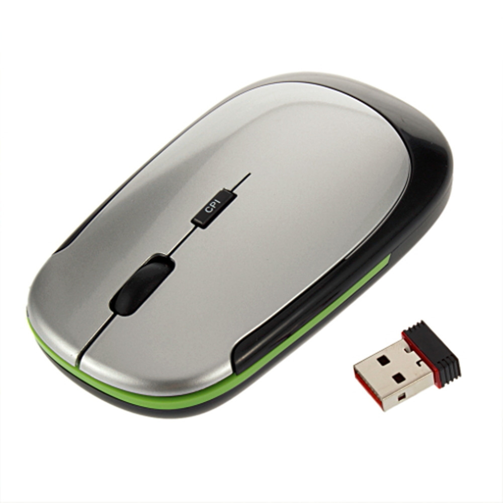 2.4GHz USB Receiver Slim Mini Wireless Optical Mouse Mice For Computer PC Fashion Ultra-thin Mouse For Laptop Computer Wholesale