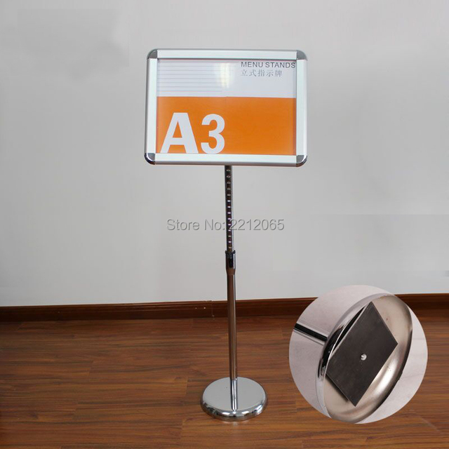 Adjule Pedestal Sign Holder Floor Stand With Aluminum Clip Poster Frames For Signage Ads And Posters