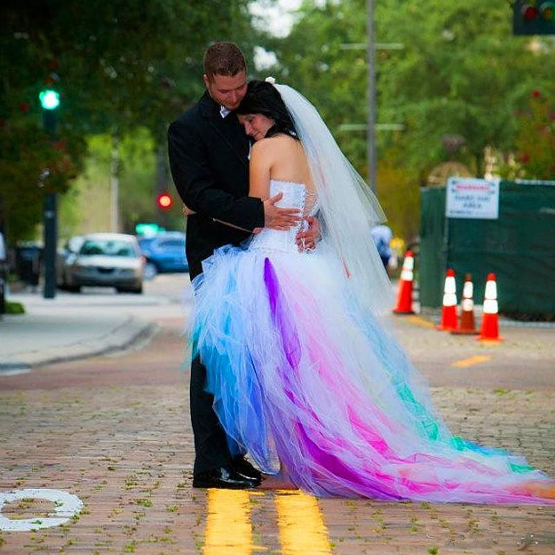 Popular Rainbow Wedding Dresses-Buy Cheap Rainbow Wedding Dresses ...