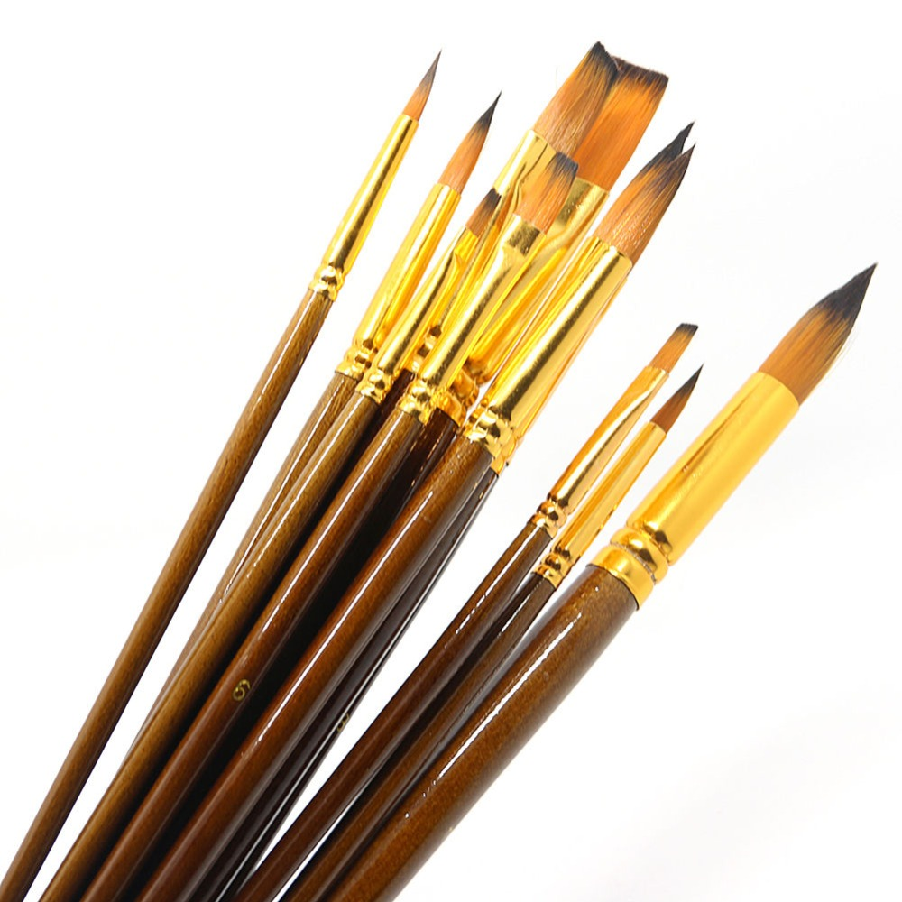 12Pcs Fine Paint Brushes For Acrylic Painter Artists Sizes ...