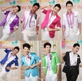 male master  Dresses Stage Costumes Men terno Suit MC Host Clothing Singer Suits & Blazer show jacket outerwear