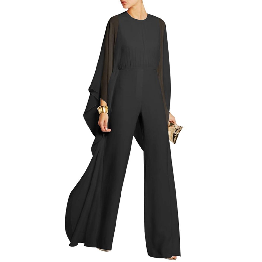 c144f7af5292 Elegant White Women Jumpsuit Body Suit feminina Fashion Women Chiffon  Rompers Casual Pants Autumn Long Sleeve
