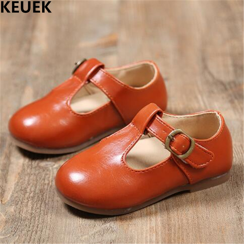 New Spring/Autumn Children Shoes Baby Toddler Casual Single Shoes Boys Girls Leather Shoes Kids Breathable Flats 019