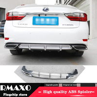 For Lexus ES250 ABS Rear Bumper Diffuser Protector For 2018 2019 ES200 ES350 Body kit bumper rear Front shovel lip rear spoiler