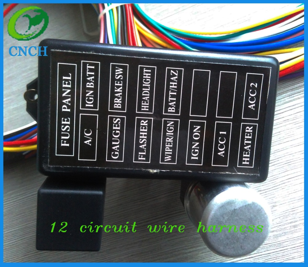 12 Circuit Universal Wire Harness Muscle Car Hot Rod Street New Wiring Xl Wires In Cables Adapters Sockets From Automobiles Motorcycles On