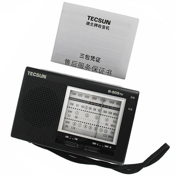 Portable TECSUN R-909TV FM  AM  VHF Broadcasting Radio (2)