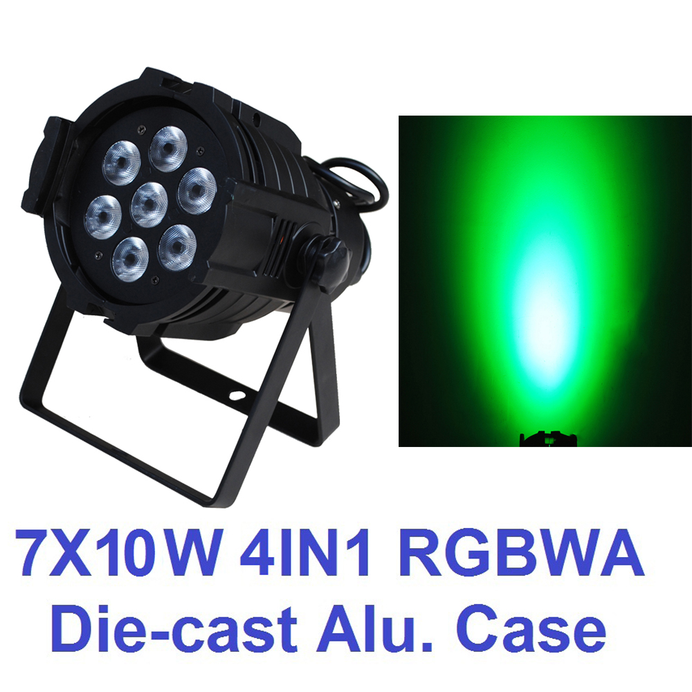 Hot Sale 2016 Led Par Light 7x10W RGBW 4IN1 Quad Color Mini Par Can Led DMX DJ Disco Effect Stage Lights Professional Party Show 2xlot 2016 led par can 7x10w rgbw 4in1 quad color mini par led dmx dj disco stage lights 70w moving head strobe effect projector