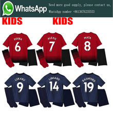 b36550301 2019 best quality Manchestered United kids kit soccer Jerseys 18 19 child  suit POGBA Football shirt Uniforms Free Shipping