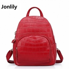 Jonlily Women's Backpacks Real Genuine Leather Fashion Alligator Pattern Casual Women's Daypacks Female Travel backpack SLI-284