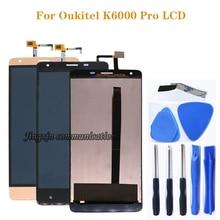 ل Oukitel K6000 برو شاشة الكريستال السائل و محول الأرقام بشاشة تعمل بلمس مكونات ل k6000 برو LCD 100% اختبار شحن مجاني + أدوات
