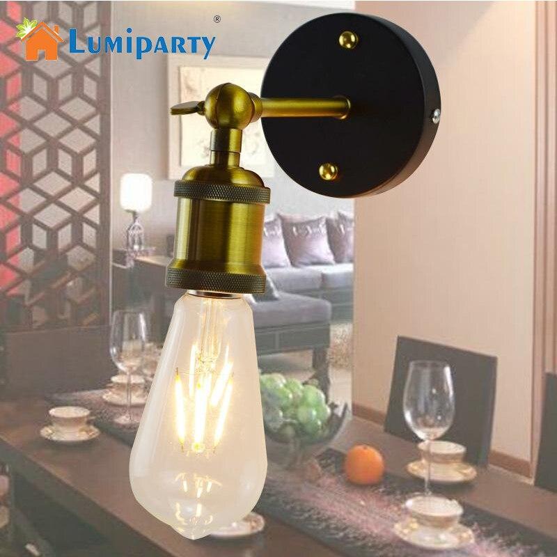LumiParty E27 Edison ЛАМПЫ бра Винтаж лофт настенные свет покрытием гладить Ретро промышленные домой освещение ночники