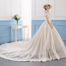 FOLOBE Princess V-neck A-line Wedding Dresses Train