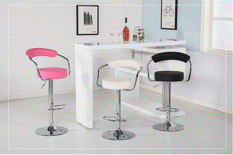 villa coffee stool bedroom exhibition information desk chair free shipping Art museum workshop lifting chair