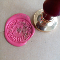Delicate Sealing Wax Stamp Harry Potter Department Ministry Of Magic Badge Wax Seal Stamp Brass Head