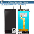 wholesale NEW Highscreen Ice2 ice 2 LCD Display +Touch Screen Digitizer Assembly Free tools