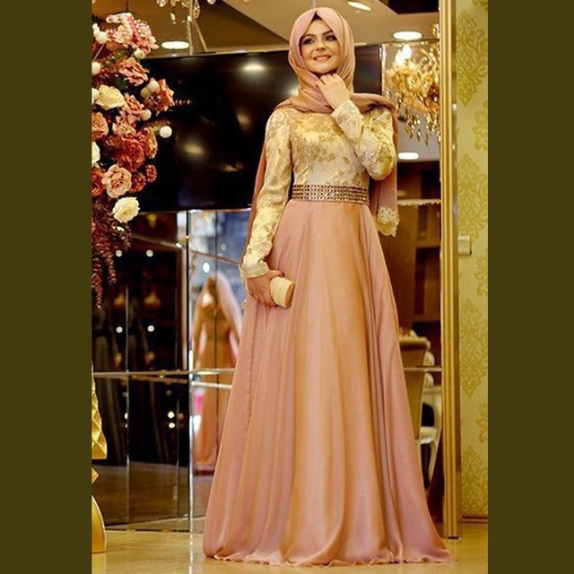 2016 Custom Made New Dynamic Muslim Prom Dress Formal Gown With ...