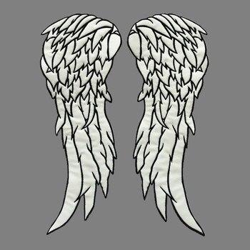 Parches de alas de ángulo Daryl Dixon del regulador The Walking Dead, parche de tela luminoso con efecto de seguridad de alta calidad