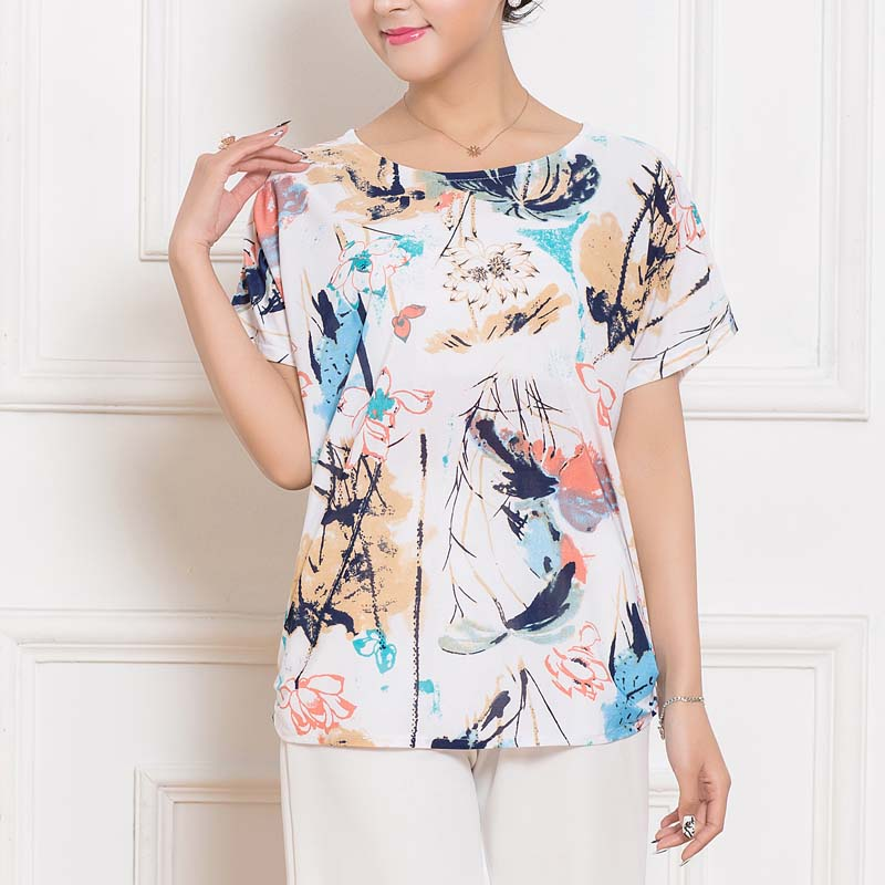 Summer women tops tees 2017 vintage short sleeve o for T shirt print dimensions