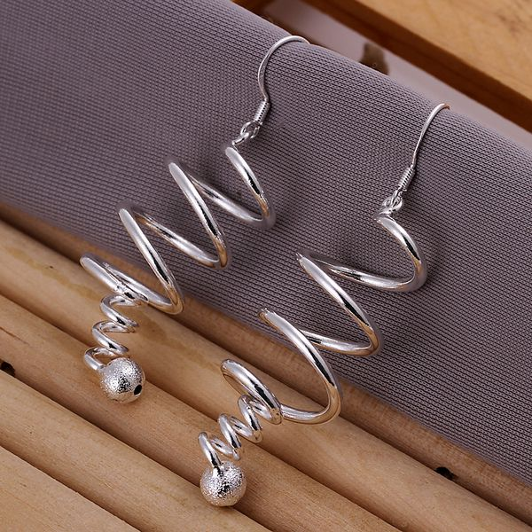 E215 fashion jewelry For Women, 925 jewelry silver plated Rotation earrings E215 /AWZBTDIX EWDZJTRC