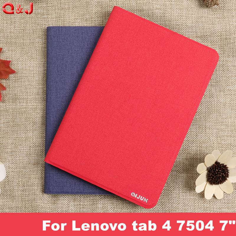 PU Leather Cover Case for Lenovo Tab 7 tab7 TB-7504x tb-7504f Tablet funda For tab 4 case  7504