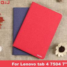 PU Leather Cover Case for Lenovo Tab 7 tab7 TB-7504x tb-7504f Tablet funda Case For Lenovo tab 4 7 case  For Lenovo tab 4 7504 7