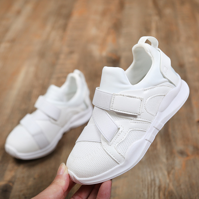 New 2018 Baby Boys Girls Autumn Spring Childer Sneaker Ventilate Pure Color Kids Tennis Shoes Fashion Boy Sneaker Bj17106