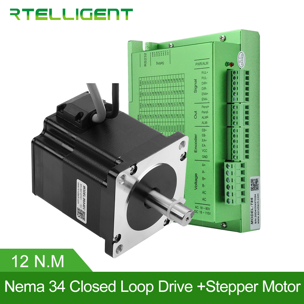 Factory Outlet Nema 34 12 0N M Closed Loop Stepper Motor with Nema34 T86 Closed Loop