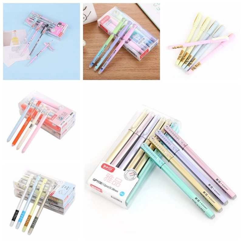 1PCS Full Needle Erasable Pen Gel Pens Cute Stationary 0.38mm  Erasable Pens Student Exam Writing Gel Pen Kawaii School Supplies