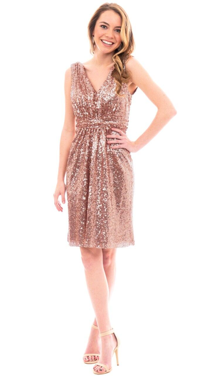 Popular Rose Gold Knee Length Dresses-Buy Cheap Rose Gold Knee ...