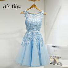 Женское вечернее Платье До Колена it's yiiya белое короткое