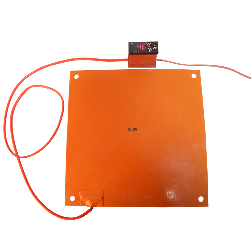 2018 3D printer Part Silicone Rubber Heating Plate 380*380mm 750W to 110-130C CR-10s 400/500mm 3D Printer Hotbed send by DHL/FDE